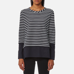 BOSS Orange Women's Tawoven Top - Dark Blue