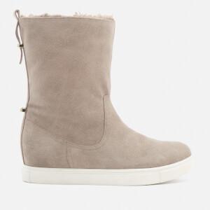 KG Kurt Geiger Women's Scorpio Suede Faux Fur Lined Boots - Beige