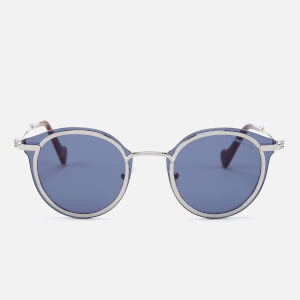 Moncler Men's Oval Sunglasses - Ruthenium/Blue