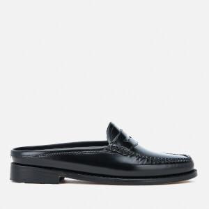 Bass Weejuns Women's Penny Slide Wheel Print Leather Slide Loafers - Black