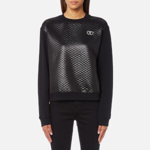 Love Moschino Women's Quilted Sweatshirt - Black
