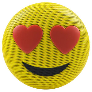 Jam Audio Jamoji Liebe Emoji Portable Wireless Bluetooth Speaker