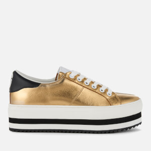 Marc Jacobs Women's Grand Leather Platform Trainers - Gold