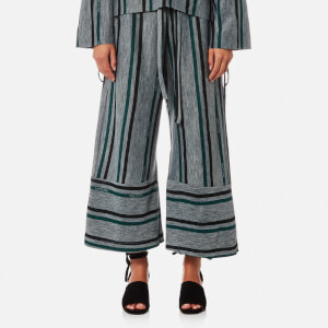 House of Sunny Women's Fit and Flare Culottes - Striped