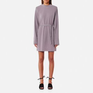House of Sunny Women's Kicker T-Shirt Long Sleeve Dress - Sweet Lilac
