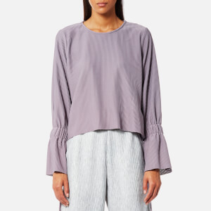 House of Sunny Women's Open Back Top with Flare Sleeves - Sweet Lilac