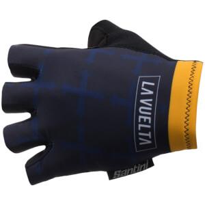 Santini La Vuelta 2017 Stage 19-20 Asturias Race Gloves - Blue/Yellow
