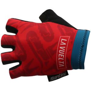 Santini La Vuelta 2017 Stage 1-2-3 Nimes Race Gloves - Blue/Red