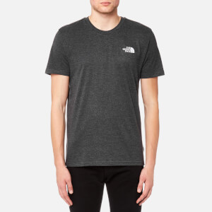 The North Face Men's Short Sleeve Simple Dome T-Shirt - TNF Dark Grey Heather/Silver Reflective