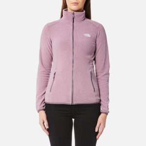 The North Face Women's 100 Glacier Full Zip Fleece Jumper - Black Plum Stripe