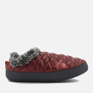The North Face Women's Thermoball® Tent Mule Faux Fur IV Slippers - Shiny Barolo Red/Iron Grey