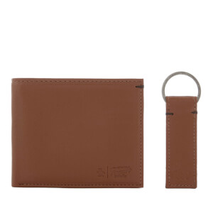 Original Penguin Men's Leather Wallet and Keyring Set - Tan
