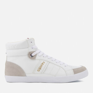 Superdry Men's Super Sleek Hi-Top Trainers - Optic White