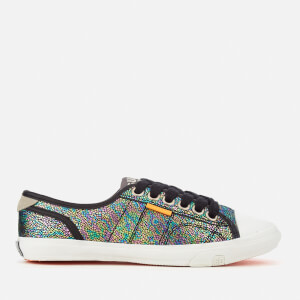 Superdry Women's Low Pro Print Trainers - Petrol Irridescent Crackle
