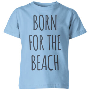 My Little Rascal Born for the Beach Kids' T-Shirt - Light Blue