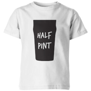 Half Pint Kid's White T-Shirt