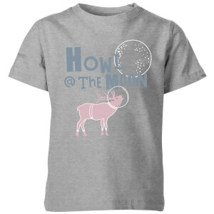 My Little Rascal Kids Howl at the Moon Grey T-Shirt