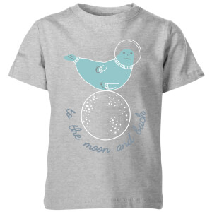 My Little Rascal Kids to the Moon and Back Grey T-Shirt