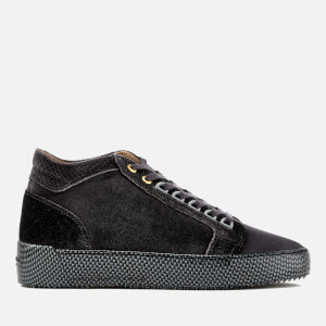 Android Homme Men's Propulsion Mid Print Velvet Trainers - Deep Grey
