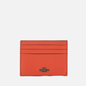 Coach Women's Card Wallet - Deep Coral