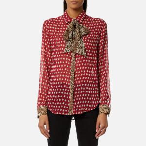 Maison Scotch Women's Mix Print Button Shirt - Combo A
