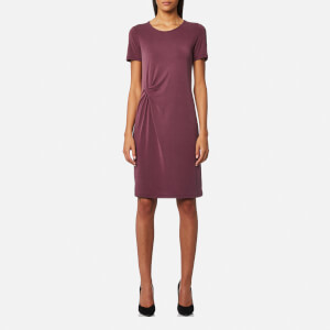 Selected Femme Women's Vivi Short Sleeve Drape Dress - Mauve Wine