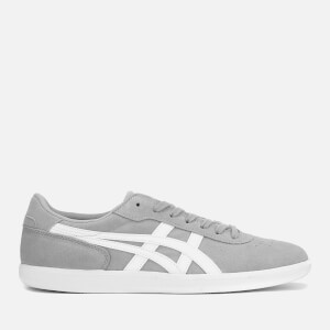 Asics Lifestyle Men's Precussor TRS Suede Court Trainers - Mid Grey/White