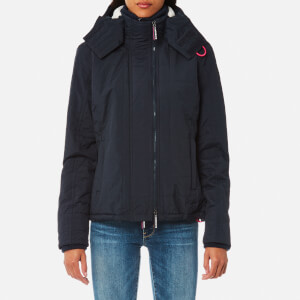 Superdry Women's Hood Quilt Sherpa Windcheater Jacket - French Navy/Punk PInk