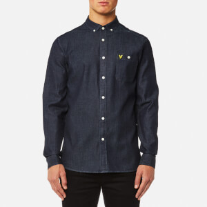 Lyle & Scott Men's Denim Shirt - Dark Indigo