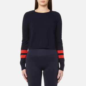 LNDR Women's Ace Sleeve Striped Jumper - Blue