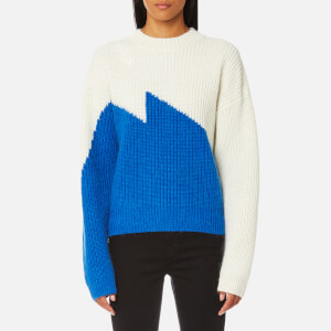 Gestuz Women's Gillian Contrast Colour Pullover Jumper - Cloud Dancer