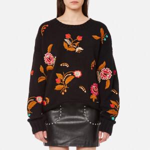 Guess Women's Long Sleeve Daria Sweatshirt - Jet Black