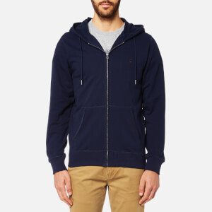 Joules Men's Coloured Loopback Zip Through Hoody - Midnight