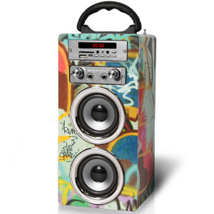 Enceinte Bluetooth Karaoké Pure Acoustics MCP-20 (Micro Inclus) -Graffiti