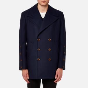Vivienne Westwood MAN Men's Melton Peacoat - Navy