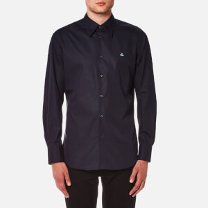 Vivienne Westwood MAN Men's Stretch Poplin Cutaway Shirt - Navy