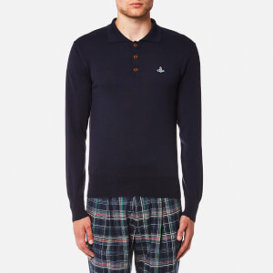 Vivienne Westwood MAN Men's Classic Long Sleeve Polo Shirt - Navy