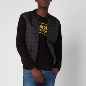 Barbour International Men's Baffle Zip Through Jacket - Black