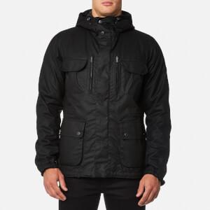 Barbour International Men's Delta Wax Jacket - Black/Gun