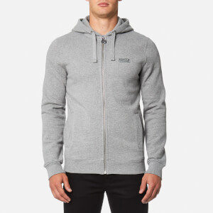 Barbour International Men's Small Logo Hoody - Storm Marl