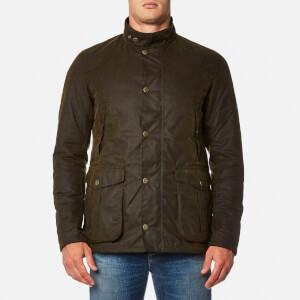 Barbour Men's Leeward Wax Jacket - Olive