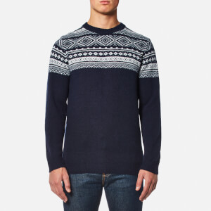 Barbour Men's Cove Crew Knitted Jumper - Light Navy