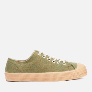 Novesta Men's Star Master Felt Trainers - Avocado/Transparent