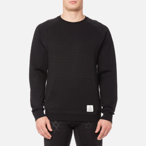 Reebok Men's Quilted Crew Neck Sweatshirt - Black