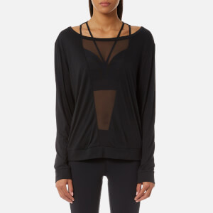 Reebok Women's Mesh Long Sleeve T-Shirt - Black