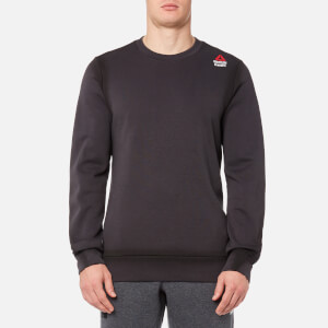 Reebok Men's CrossFit Crew Neck Sweatshirt - Coal