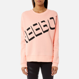 Reebok Women's Logo Crew Neck Sweatshirt - Peach Twist