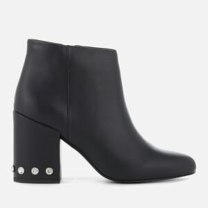 Senso Women's Jules I Leather Heeled Ankle Boots - Ebony