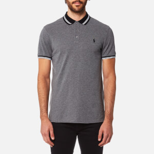 Polo Ralph Lauren Men's Custom Fit Tipped Polo Shirt - Foster Grey Heather