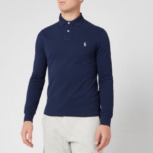 Polo Ralph Lauren Men's Slim Fit Basic Mesh Long Sleeve Polo Shirt - Newport Navy
